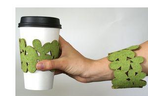 cozy/cuffs, eco-chic accessory, eco-chic bracelet, eco-chic coffee sleeve, eco-chic cozy, eco-modern coffee sleeve, eco-modern cozy, eco-modern fashion accessory, modern felt design, reusable coffee cup sleeve, sustainable coffee sleeve, sustainable cozy