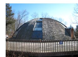 rotating architecture, dome-shaped homes, green homes, green architecture, eco-chic architecture, modern eco-dome, energy-efficient building kit, green prefab, passive solar design, Domespace, Domespace in New Paltz, Solaleya, eco-friendly architecture