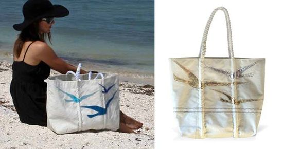 eco-friendly bag design, repurposed design, eco-chic bags, recycled bags, recycled totes, eco-modern totes, bags made of recycled sails, Sea Bags, bags made of discarded sails, recycled fashion accessories, sustainable summer totes, waste reduction